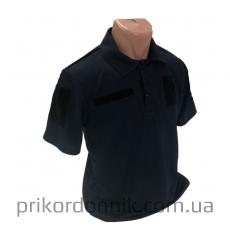 Футболка Поло CoolPass Синяя с  погоном- Фото№3