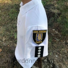 Футболка поло для полиции, белая, COOL-PASS- Фото№2