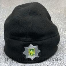 Шапка флисовая черная Полиции