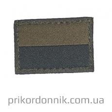 Тканевый шеврон Флаг Украины 4.5 на 3 см хаки