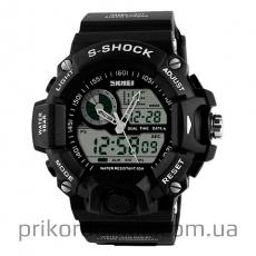 Часы черные SKMEI 1029 усиленный корпус