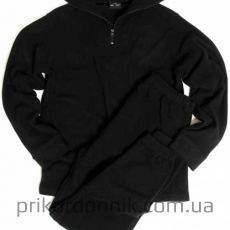 Флисовый костюм UNTERWÄSCHE THERMOFLEECE черный