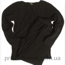 Флисовый костюм UNTERWÄSCHE THERMOFLEECE RUNDH.SCHW черное