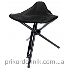 Cкладной черный стул TRIPOD MIL TEC