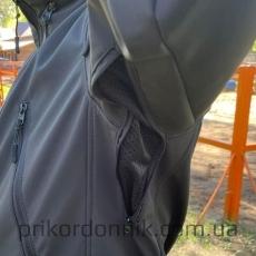 """Куртка Softshell черная """"Тактик""""- Фото№3"""
